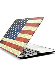 "2 in 1  Retro USA Flag Full Hard Plastic Cover Case for MacBook Pro 13"" /15"" + Transparent Keyboard Cover"