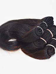 3pcs/set Natural Color Brazilian Virgin Short Hair Weave For Women Hair Short Body Wave Hairstyles 8inch #1B