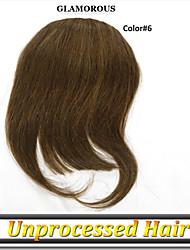 1 год гарантии 1шт / много естественный цвет русской девственница Remy человеческих волос бахромой, взрыв