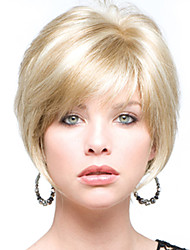 Perfect Short Straight Human Virgin Remy Hand Tied Top Female Capless Hair Wig