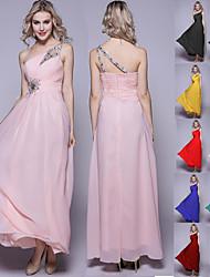 Royal Blue / Black / Ruby / Fuchsia / Grape / Pool Plus Sizes Maxi With Beads Sequins Chiffon Bridesmaid Dress Strapless