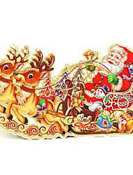 Christmas Decorations Deer Carts Window Sticker Contemporary , Art Deco M:35*20cm,L:42*24cm,XL:52*29cm,XXL:66*38cm