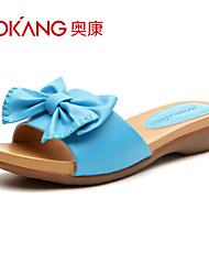 sandálias de couro sintético das mulheres aokang® - 132823848