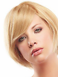 Prevailing Hnad Tied Top Human Virgin Remy Hair Short Straight Capless Female Wig