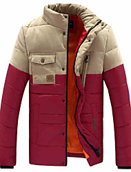 Winter new feather padded short slim male youth thick padded jacket collar leisure jacket tide