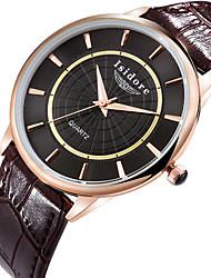 Men's Zircon Genuine Leather Quartz Watches Wrist Watch Cool Watch Unique Watch