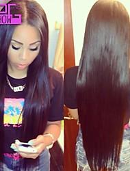 10-26inch в наличии прямо средняя часть бразильский человеческого кружева волосы парик фронта