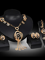 Women Vintage / Party Gold Plated Necklace / Earrings / Bracelet / Ring Sets