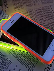 Para Funda iPhone 7 / Funda iPhone 7 Plus / Funda iPhone 6 / Funda iPhone 6 Plus / Funda iPhone 5 Linterna LED / Transparente Funda