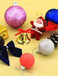 """ (A Packet Of 12)Christmas Decorations,  Christmas Colorful Ball, Christmas Tree Ornaments"