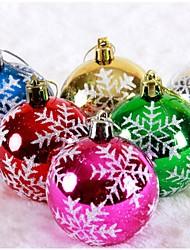 partido colorido desenho ou estágio padrão decoração de bola de neve (6pcs)