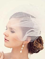 Women's Satin / Tulle Headpiece - Wedding / Party Birdcage Veils 1 Piece