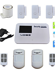 Voice SIM Card GSM Alarm System Quad Band Wireless Wired For Home House Security With 3 Door Sensor 2 PIR Detector