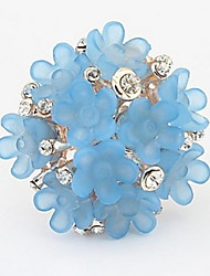 Candy-colored Sweet Flowers Alloy Exquisite Statement Rings