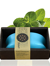 ALL BLUE High Quality Hot Style Cool And Refreshing Skin Natural Peppermint Oil Soaps Facial Soap