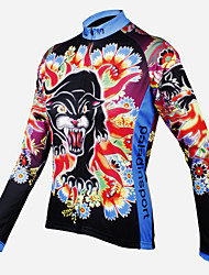 ilpaladinoSport Women Long sleeve Cycling Jersey New Style    CX601  Female leopard  100% Polyester