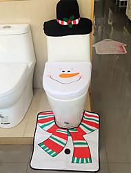 moda personalidade boneco de neve vaso sanitário tampão do Natal tapetes de chão tampa do radiador conjuntos de toalha