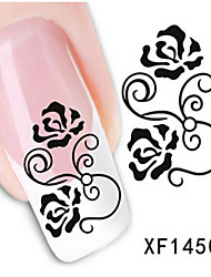 1 PCS 3D Water Transfer Printing Nail Stickers XF1450