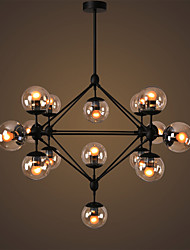 Ecolight™ Chandeliers 15 Lights/Glass Ball Lights/ Retro Living Room / Hallway / Outdoors / Garage Metal