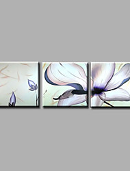 Ready to Hang Hand-Painted Oil Painting on Canvas Wall Art Contempory Abstract Flowers Home Deco Three Panels