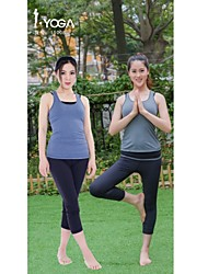 Iyoga ® Yoga Tops Antistatic / Limits Bacteria / Sweat-wicking / Soft Stretchy Sports Wear Yoga Women's