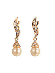 Drop Earrings Women's Alloy Earring Imitation Pearl