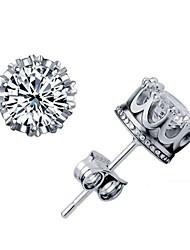belles élégantes or diamant boucles d'oreilles 18 k