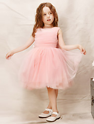 Girl Pink Grenadine Pleated Holiday Dresses