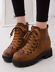 Women's Shoes Europe Low Heel Round Toe Ankle Boots More Colors available