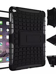 TPU + híbrido armadura de caucho resistente pc soportar casos de tapa dura para el mini ipad 4
