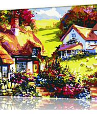 DIY digitales Ölgemälde Frame Familie Spaß Malerei alle von mir Berghütte x5032