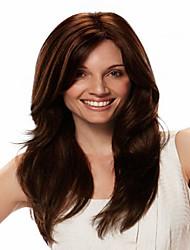 europeu senhora mulheres peruca perucas extensões de onda syntheic bela cor é marrom escuro