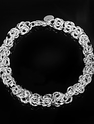 Fashion Noble 925 Silver Party Chain & Link Bracelets For Woman&Lady