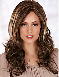 Capless Extra Long Synthetic Mix Color Curly Hair Wig
