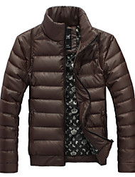 Men's Round Coats & Jackets , Cotton Long Sleeve Casual Pocket Winter Segama