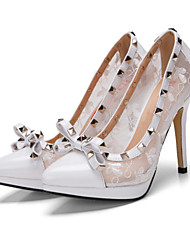 The new high heels sweet orange bow fine toe rivet increasing platform wedding shoes  Asakuchi shoes