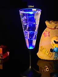 7.2*22.3CM Christmas Colorful Flash Light Glass Induction Switch Control Plastic Cup Light LED Lamp