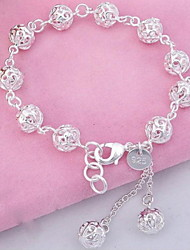 Sterling Silver Fashion Delicate Hollow Ball Bracelet Jewelry Christmas Gifts