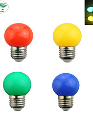 Zweihnder Blue Green Red Yellowl  LED Bulb E27 Screw 0.6W LED Bulb 4 Colors(1PCS)