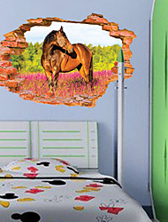 3D Sticker Wall HorseStickers for Dining Room Kid Room Decorations Wall Decals Wall Art Decor