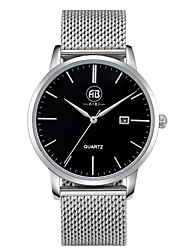 AIBI® Men's Fashion Watch Calendar Water Resistant Fabio Los Angeles Black Silver Business Desinger Dress Watch For Men Wrist Watch With Watch Box