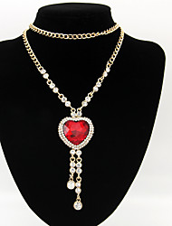 Women's Fashion Heart Sweater Necklaces