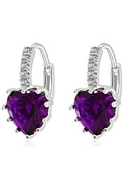 Hoop Earrings Silver Plated Fashion Dark Blue Purple Yellow Pink Light Blue Jewelry 2pcs
