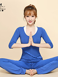 Yoga Clothing Sets/Suits Yoga Pants + Yoga Tops Breathable/ Lightweight Materials Stretchy Sports Wear
