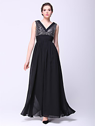 TS Couture® Formal Evening / Black Tie Gala Dress A-line V-neck Ankle-length Chiffon with Sequins