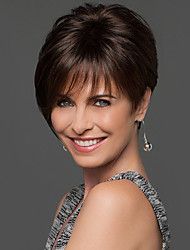 New Arrival Short Straight Hand Tied Top Human Virgin Remy Female Capless Hair Wig