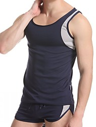 Men's Polyester Undershirt Pajamas Bottoming Vest Outdoor Sports Vest Men's Underwear