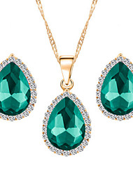 Jewelry Necklaces / Earrings Jewelry set Rhinestone Fashion Wedding / Party / Daily 1set Women Wedding Gifts