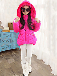 Girl's Blue / Pink / Red Down & Cotton Padded , Dresswear Polyester Winter
