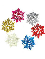 Christmas decoration gifts Colored snowflake, color random